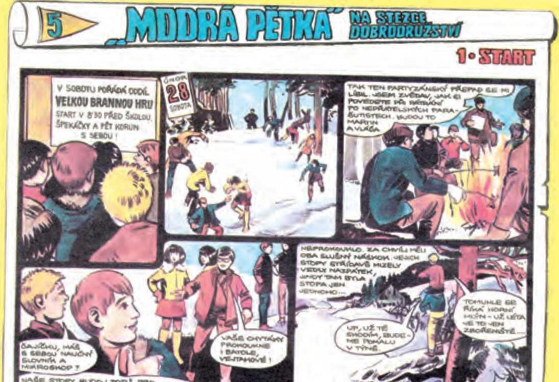 Originální časopisecké vydání v Pionýrské stezce v roce 1971