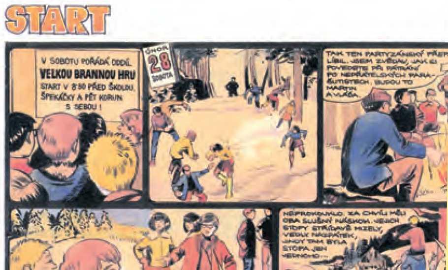 Tentýž příběh Modré pětky upravený pro knižní vydání v roce 2000