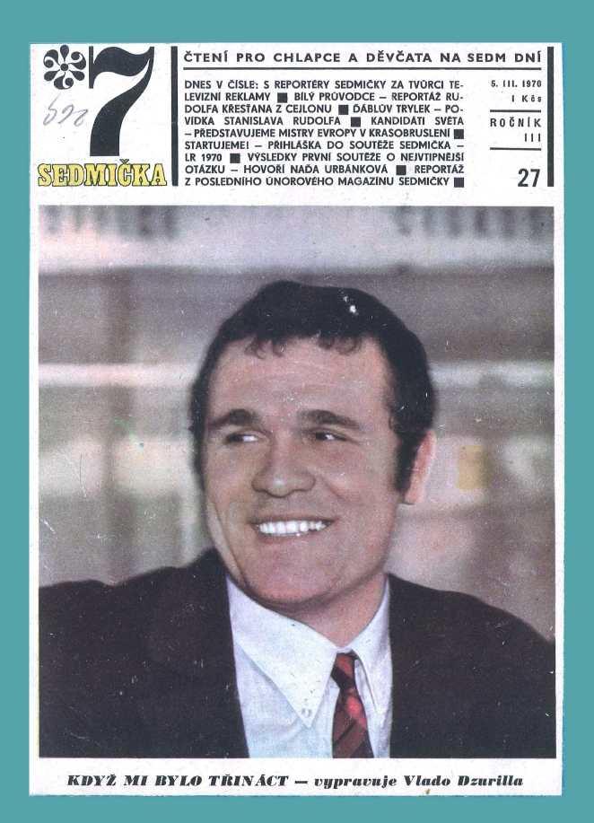 SEDMIČKA - 3.ročník (1969-70) - číslo 27