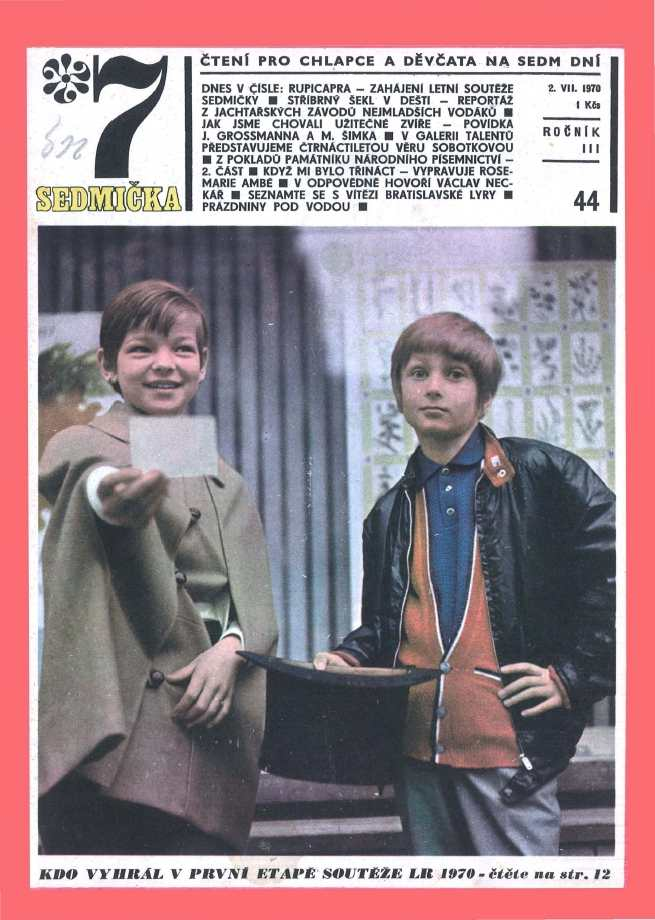 SEDMIČKA - 3.ročník (1969-70) - číslo 44