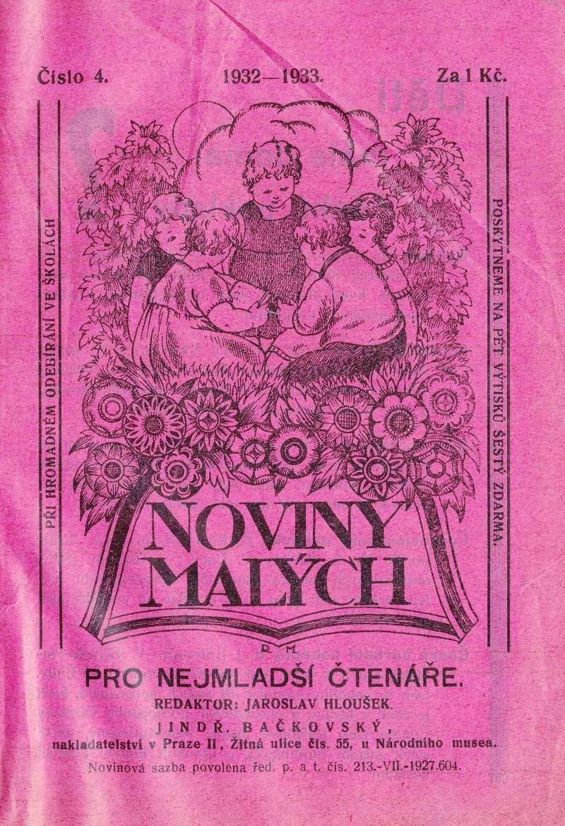 NOVINY MALÝCH 6.ročník (1932-33) číslo 04