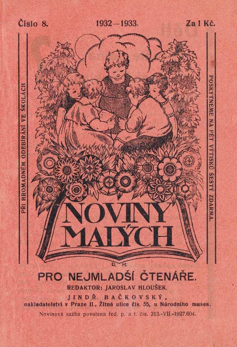 NOVINY MALÝCH 6.ročník (1932-33) číslo 08