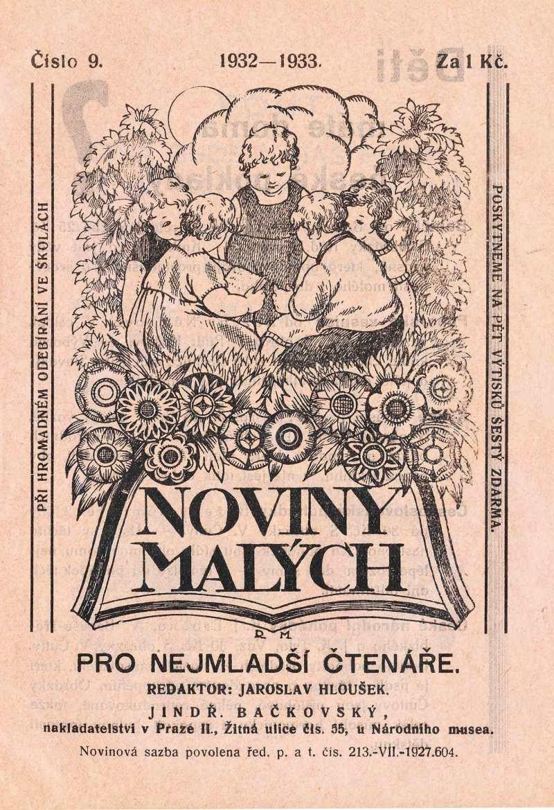 NOVINY MALÝCH 6.ročník (1932-33) číslo 09