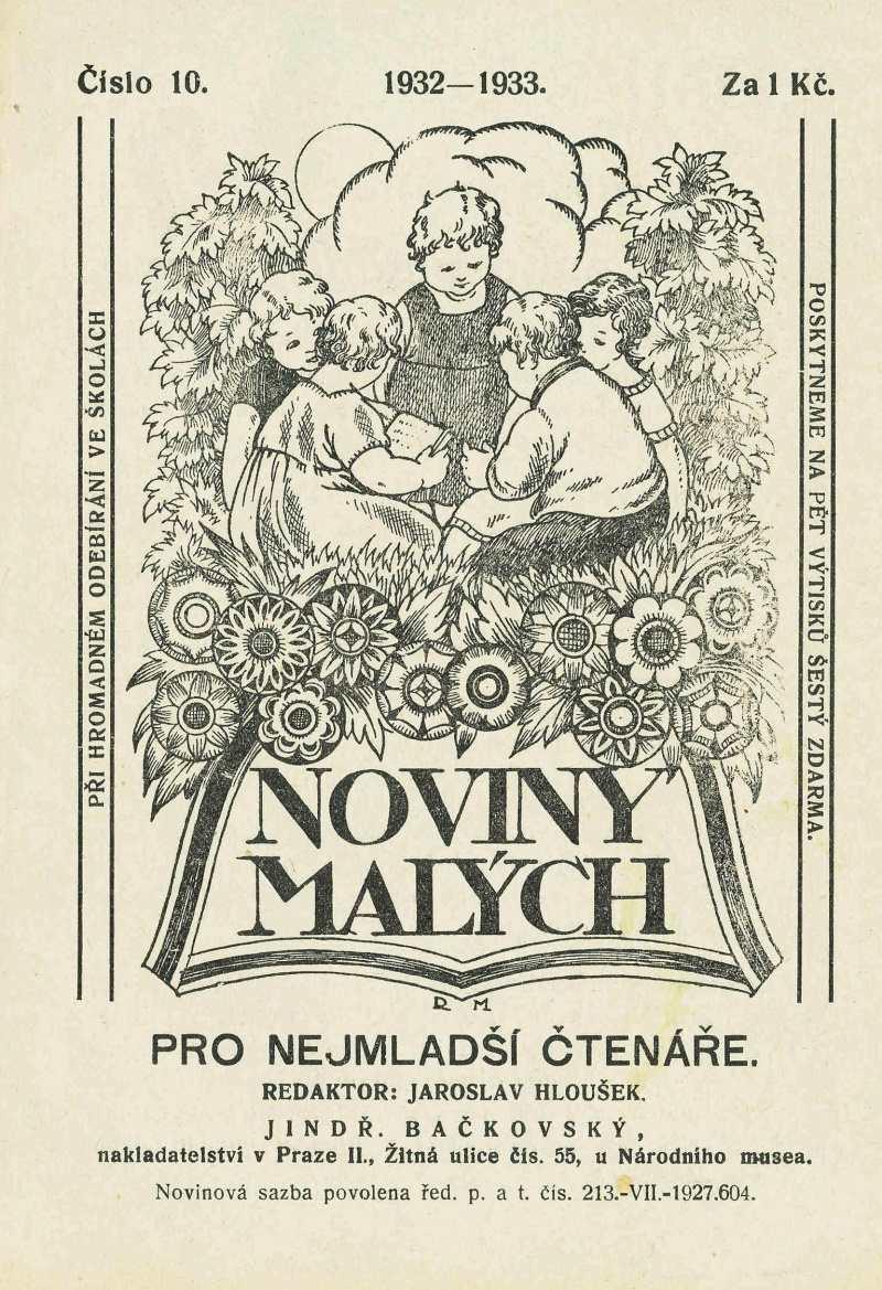 NOVINY MALÝCH 6.ročník (1932-33) číslo 10