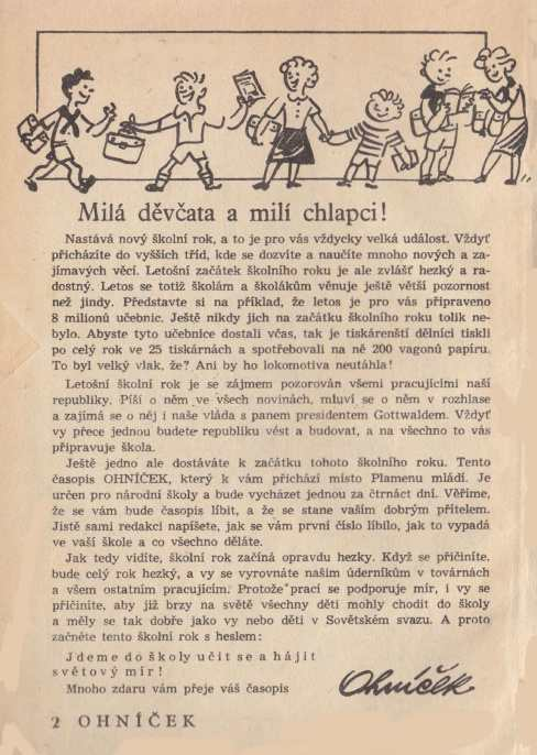 OHNICEK_1.rocnik_(1950-51)_cislo_01_uvod