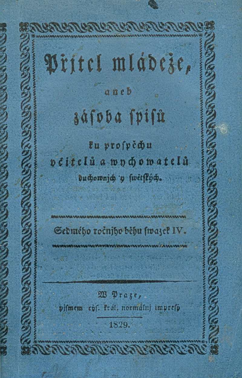 PRITEL MLADEZE_7.rocnik_(1829)_cislo_4