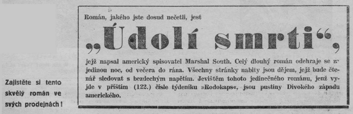 RODOKAPS_3.rocnik_1937-38_cislo_121_PROC_ZEMREL_CATHFIELD_anonce