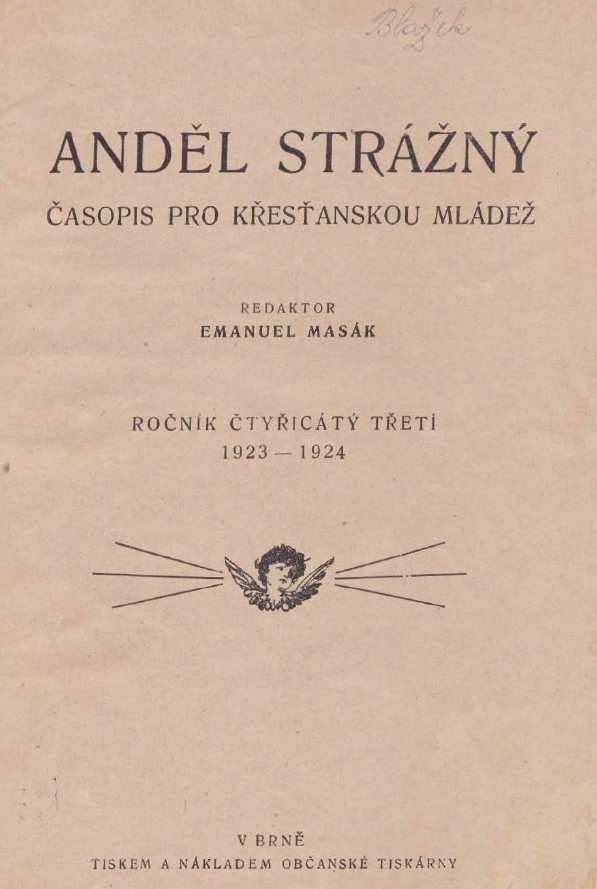 ANDEL_STRAZNY_43.rocnik_(1923-24)_obsah