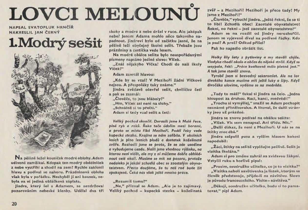 OHNICEK_34.rocnik_(1983-84)_cislo_01_20_Lovci_melounu