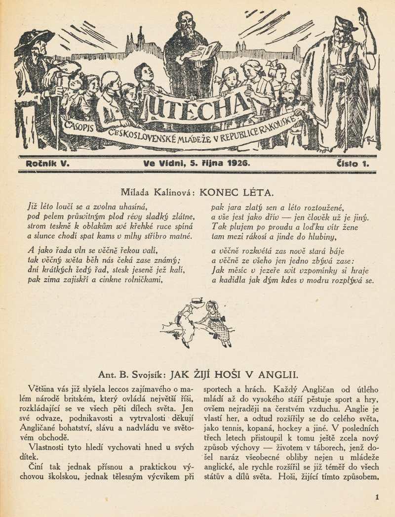 utecha_5-rocnik_1926-27_cislo_01
